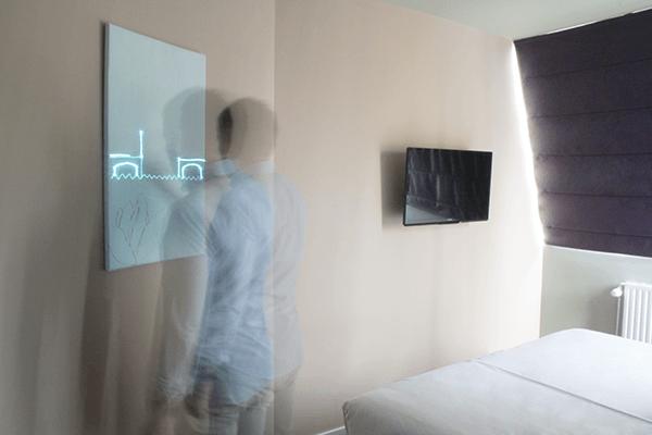 Creëer je eigen kunstwerk van licht in dit hotel