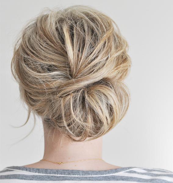 lage chignon knot