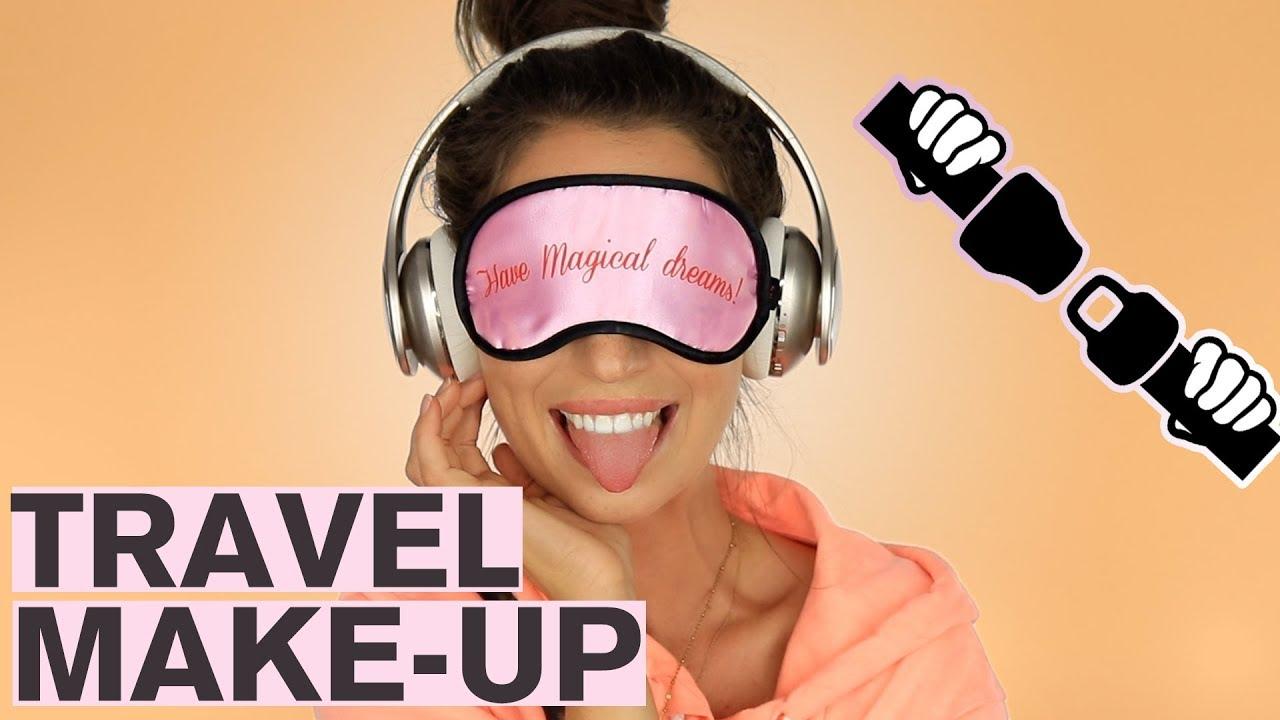 makeup in het vliegtuig